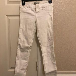 Abercrombie kids white jeans